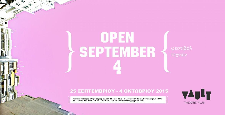 OPEN SEPTEMBER 4